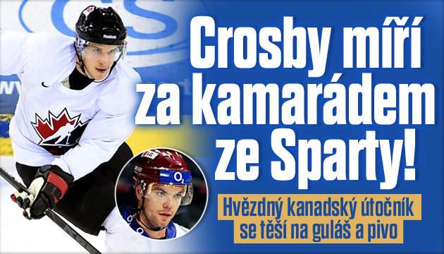 Hvězdný kanadský útočník Crosby se těší do Prahy