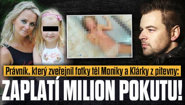 Za fotky těl Moniky a Klárky bude tučná pokuta
