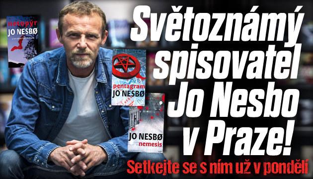 Do Prahy přijede světoznámý spisovatel Jo Nesbo