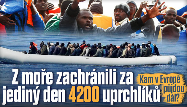Z moře zachránili za jediný den 4200 uprchlíků