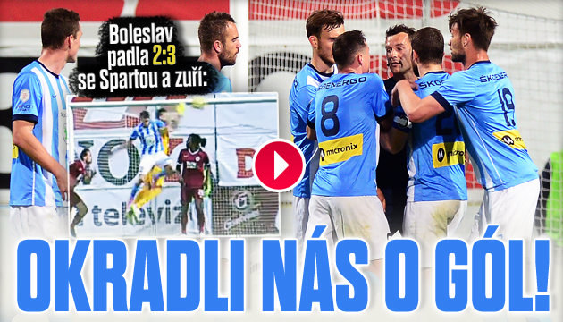 Okradli nás o gól, zuří Boleslav po Spartě