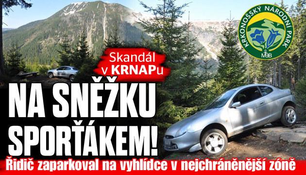 Skandál v národním parku Krkonoše