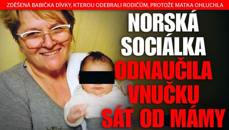 Norská sociálka odnaučila vnučku sát od mámy