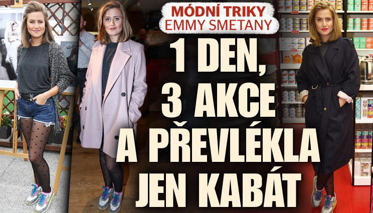 Emma Smetana: 3 akce v jeden den a převlékla jen kabát