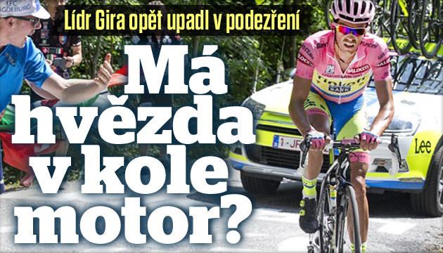 Má Contador v kole na Giru motor?