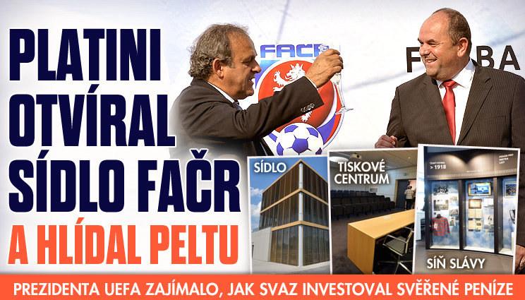 Platini otevřel nové sídlo FAČR. Stálo 137 milionů
