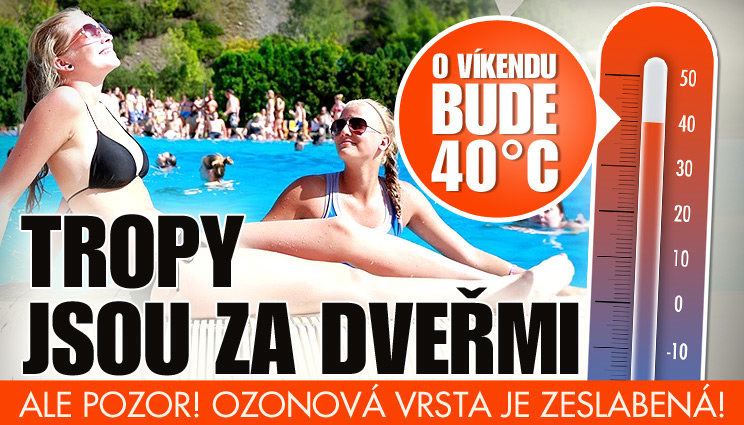 O víkendu bude skoro 40 °C