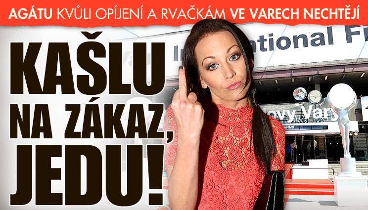 Agáta jede přes zákaz do Varů! Poprat se?