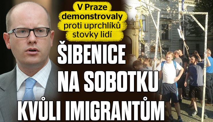Šibenice na Sobotku kvůli uprchlíkům