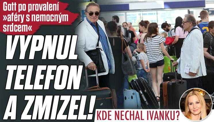 Gott si vypnul telefon a zmizel z Česka!
