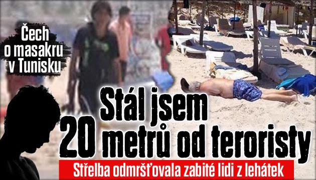 Čech stál 20 metrů od masakru v Tunisku