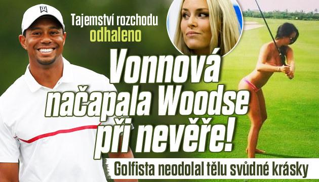 Tiger Woods zahnul i pohledné Wonnové