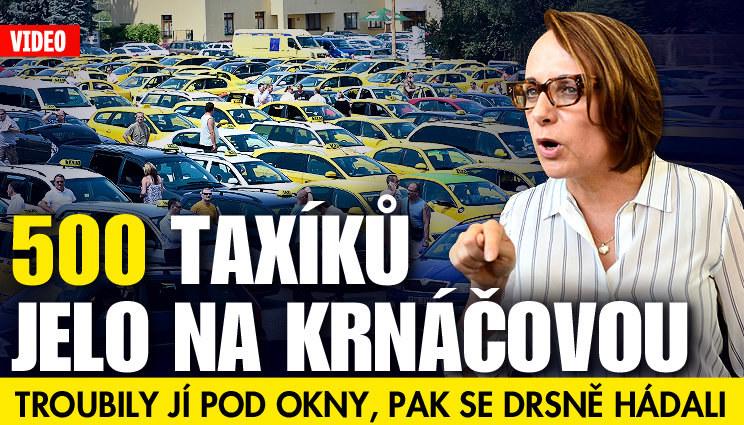 500 taxiků jelo na Krnáčovou