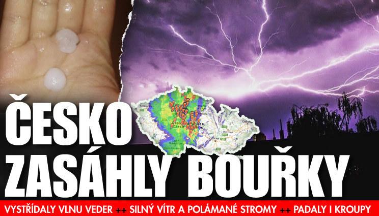 Do Česka přišly bouřky, ochladilo se