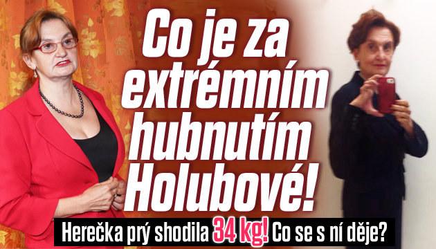 Extrémní hubnutí Evy Holubové