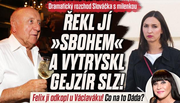 Slováček skončil s milenkou před svědky!