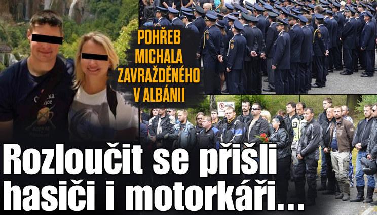 Pohřeb Michala, kterého zavraždili v Albánii