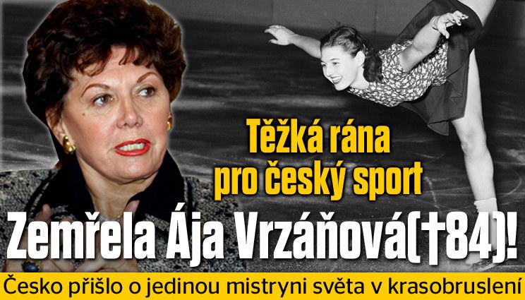 Zemřela legendární Ája Vrzáňová