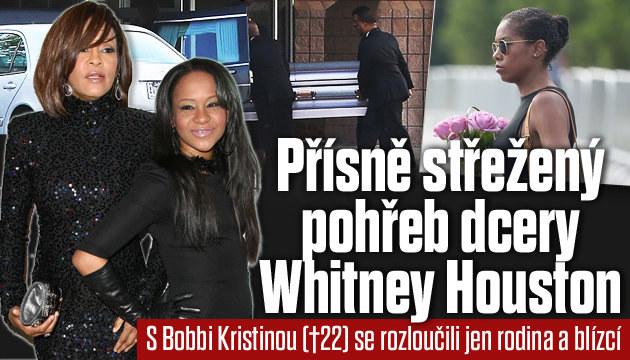 Pohřeb dcery Whitney Houston