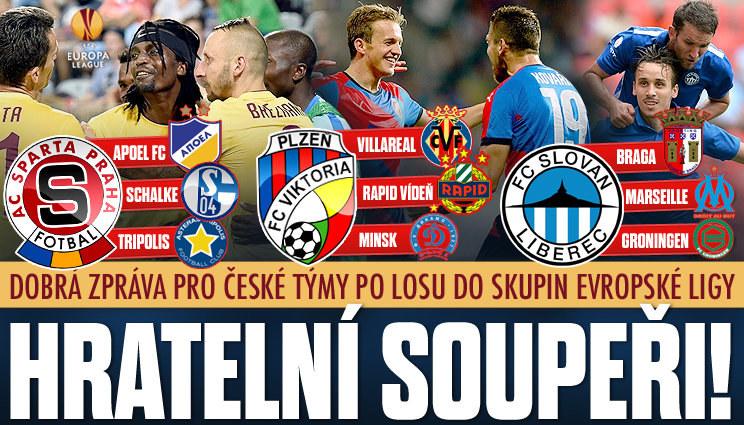 České týmy mají v EL hratelné skupiny