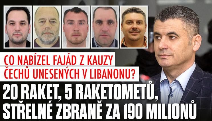 Kauza unesených Čechů: Zbraně za 190 milionů
