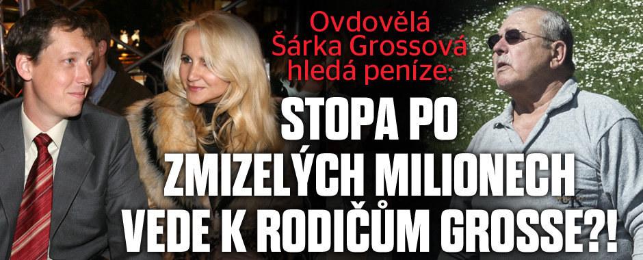 Šárka Grossová hledá peníze: Stopa po zmizelých milionech vede k rodičům Grosse?!