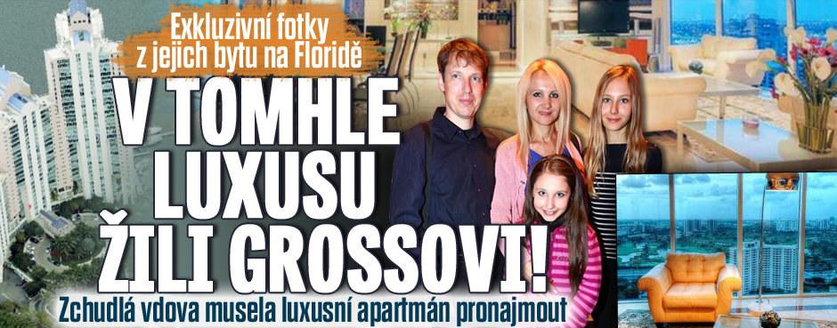 V tomhle luxusu žili Grossovi! Zchudlá vdova musela luxusní apartmán na Floridě pronajmout