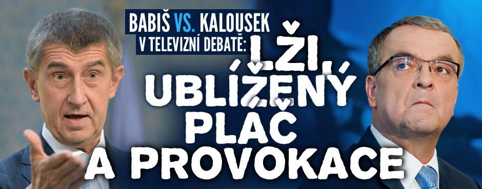 Babiš vs. Kalousek v televizní debatě: Lži, ublížený pláč a provokace