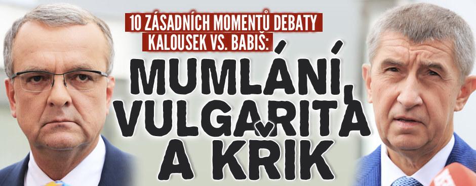 10 zásadních momentů debaty Kalousek vs. Babiš: Mumlání, vulgarita a křik