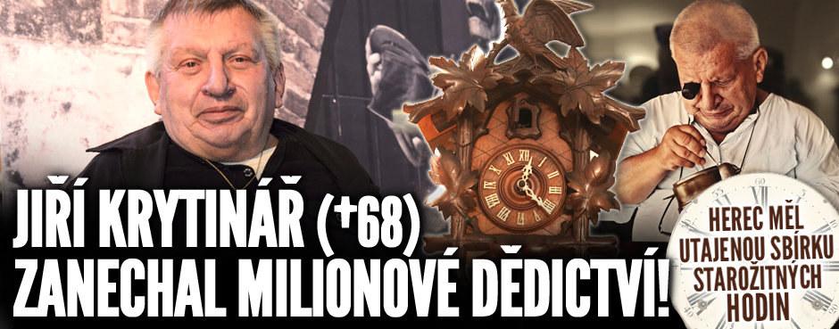 Jiří Krytinář (†68) zanechal milionové dědictví! Herec měl utajenou sbírku starožitných hodin
