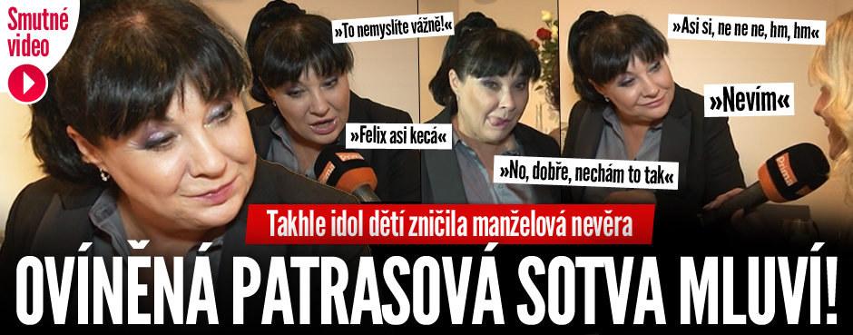 Smutné VIDEO: Zlomená nevěrou a vínem Patrasová sotva mluví! Může za to Felix?