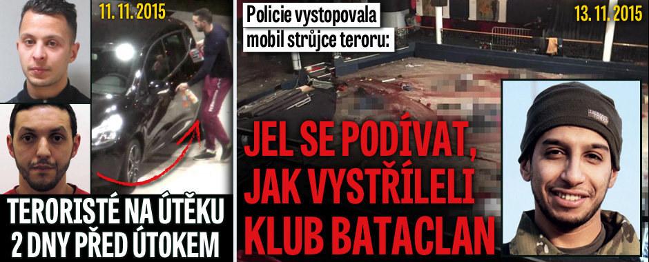 Policie vystopovala mobil strůjce teroru: Jel se podívat, jak vystřílel klub Bataclan