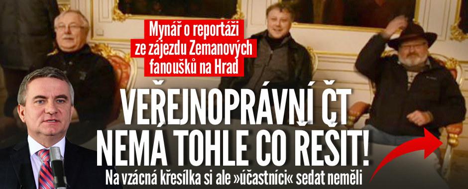 Mynáře naštvala ČT. Kvůli zájezdu Zemanových fanoušků na Albertov a Hrad