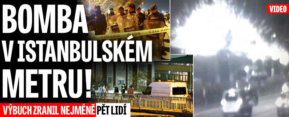 Bomba v istanbulském metru. Exploze zranila pět lidí, těžkooděnci jsou v akci