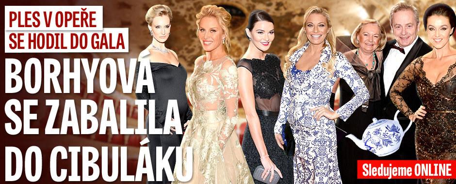 Ples v Opeře ONLINE: Hlavní hvězda nedorazila, Borhyová šokovala cibulákovými šaty!
