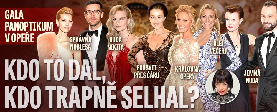 Gala panoptikum v Opeře podle Františky: Kdo to dal a kdo trapně selhal? Královnou plesu se stala Krainová