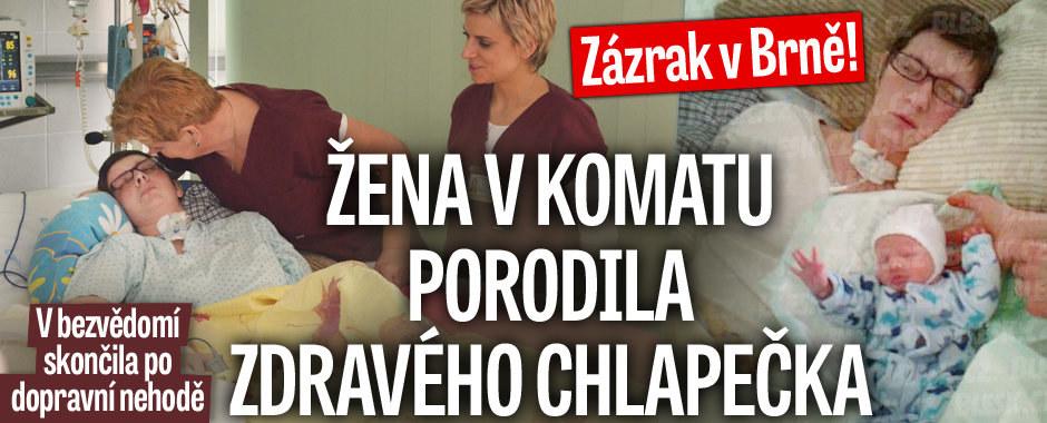 Úspěch brněnských lékařů: Žena v kómatu porodila zdravého chlapečka