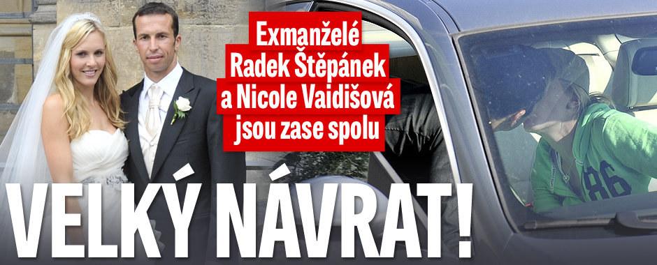 Velký návrat: Exmanželé Radek Štěpánek a Nicole Vaidišová jsou zase spolu