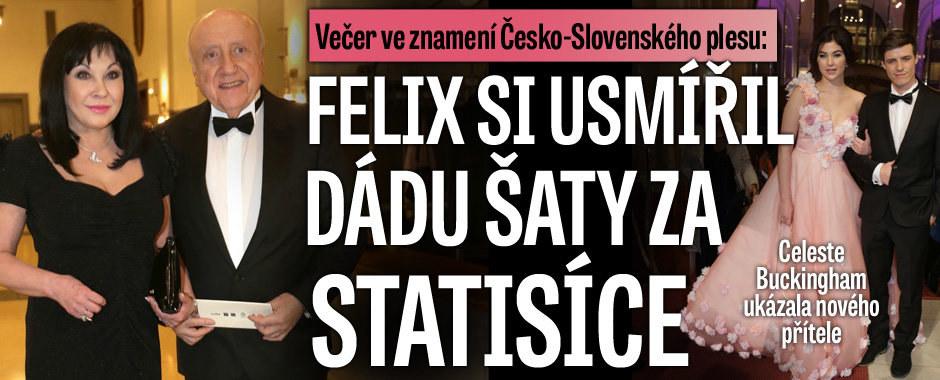 Večer ve znamení Česko-Slovenského plesu: Felix si usmířil Dádu šaty za statisíce
