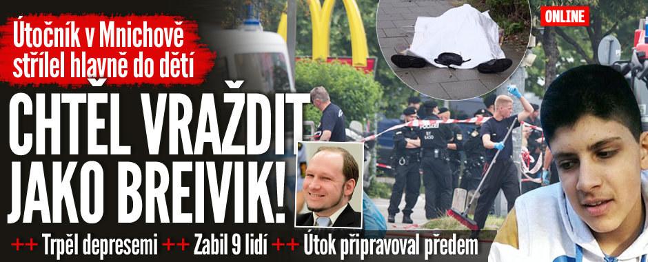 ONLINE Masakr v Mnichově: Střelec (18) zabil 9 lidí včetně 14letých dětí