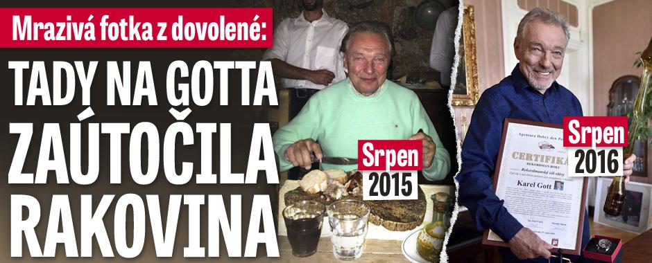 Mrazivé foto z dovolené v Itálii: Na Gotta zaútočila rakovina přesně před rokem