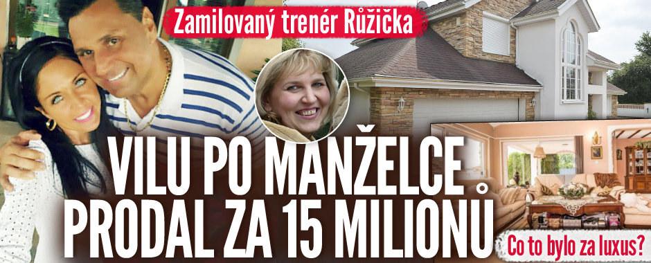 Růžička vilu po smrti manželky prodal za 15 milionů! Jak to vypadá uvnitř?