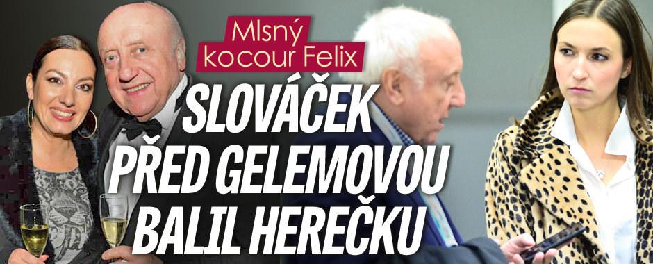 Mlsný kocour Felix! Slováček to před Gelemovou zkoušel na mladou herečku