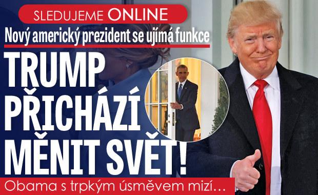 Trump prezidentem USA ONLINE: V plamenné řeči slíbil Ameriku na 1. místě