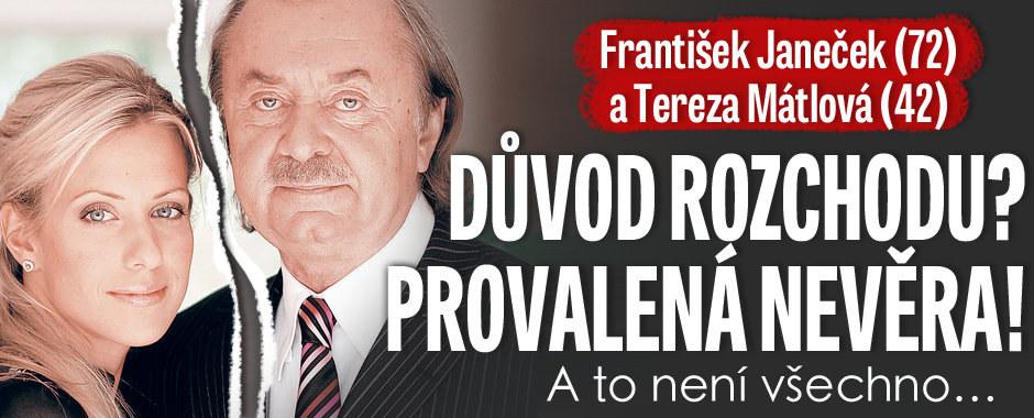 Tajemství rozchodu Janečka a Mátlové: Provalená nevěra!