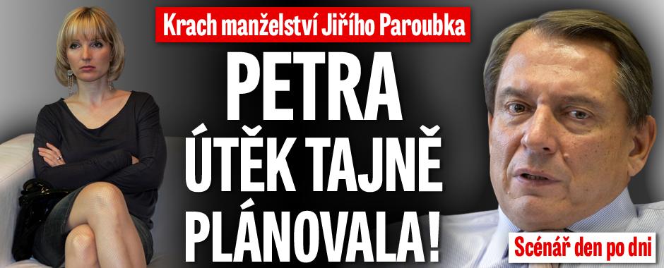 Krach manželství Jiřího Paroubka: Petra útěk tajně chystala! Scénář den po dni!