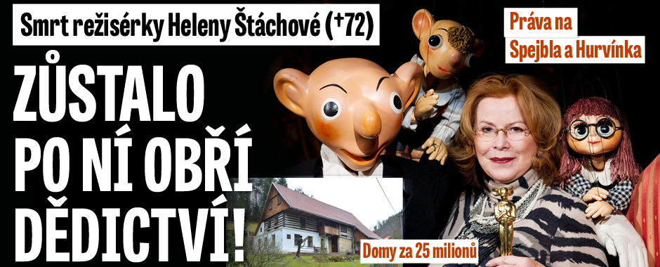 Obří dědictví po Heleně Štáchové: Domy za 25 milionů a práva na Hurvínka
