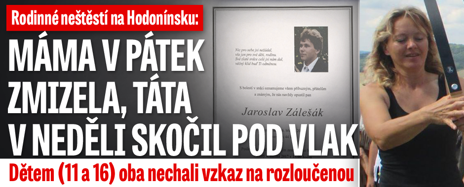 Tragédie na Hodonínsku: Táta (†44) skočil pod vlak, máma (42) je nezvěstná, doma zůstaly osamocené děti!