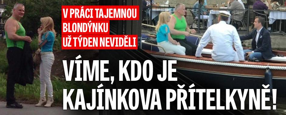 Kdo je tajemná Kajínkova přítelkyně? V práci už ji týden neviděli