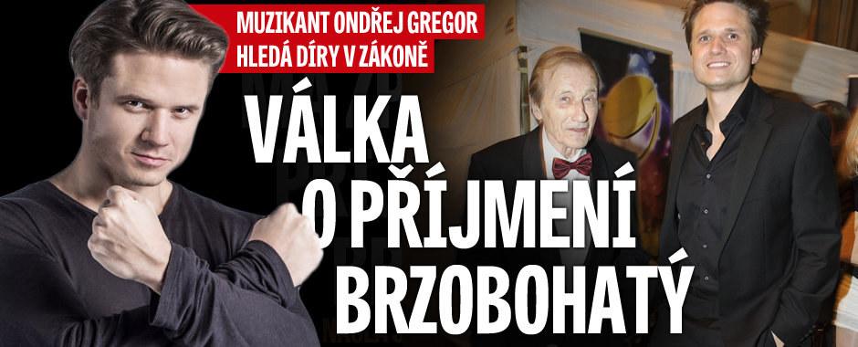 Muzikant Ondřej Gregor si najal právníka a... Vyválčil zpět příjmení BRZOBOHATÝ!